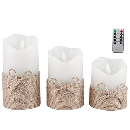 SanZHONGsd La luz de la vela oscilación, la vela eléctrica del LED enciende las lámparas blancas de la vela para la decoración del restaurante del hogar