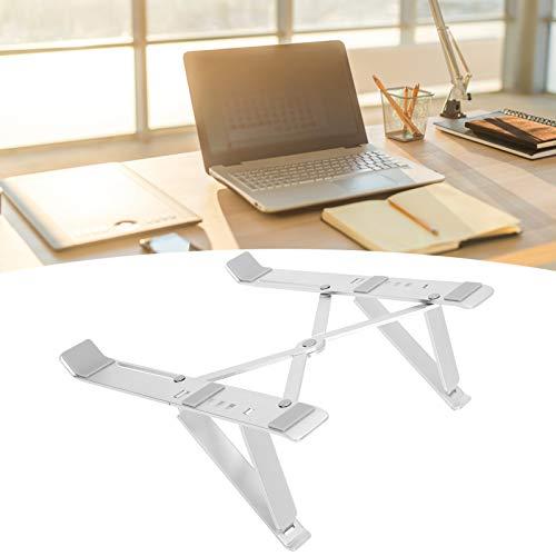 Soporte ergonómico para computadora portátil de mesa Soporte para computadora portátil para 10-17 pulgadas(Silver)