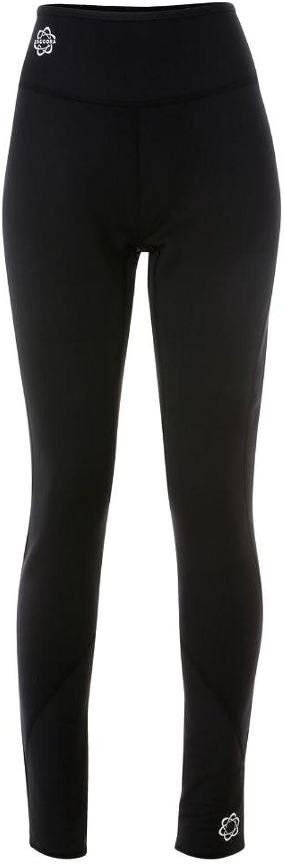 Zaggora Women's High Rise Flares Slimming Exercise Leggings-Black, X-Small