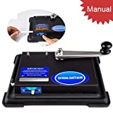 Tomasar Hand Operation Cigarette Rolling Machine, Small Cigarette Roller Making Tobacco Machine (King Size, 100mm Tubes, Regular) (Black)