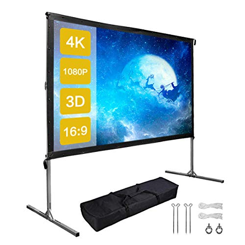 100 Inch Outdoor Projector Screen with...