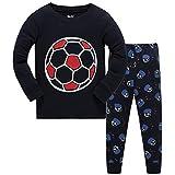 Pijama Niño Invierno-Pijama para Niños-Pijamas de Fútbol para Niños-Manga Larga Niño Ropa de algodón Traje Dos Set 3 Años