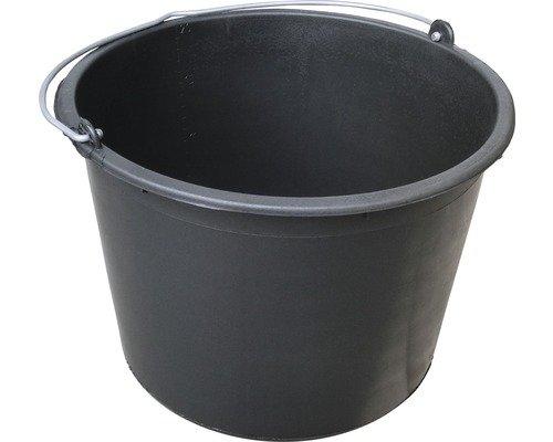 10 Stück Baueimer 20L - Mörteleimer - Kübel - Eimer - 20 Liter Volumen - in schwarz