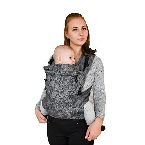 Organic Cotton Jacquard mei tai Baby wrap Gray...