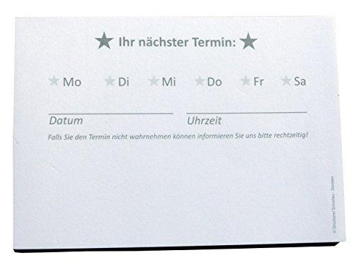 10 x Terminblöcke Terminblock Nr.4 -Terminzettel Termine - Praxis Studio Ärzte Frisör, Maniküre (22680_96N)