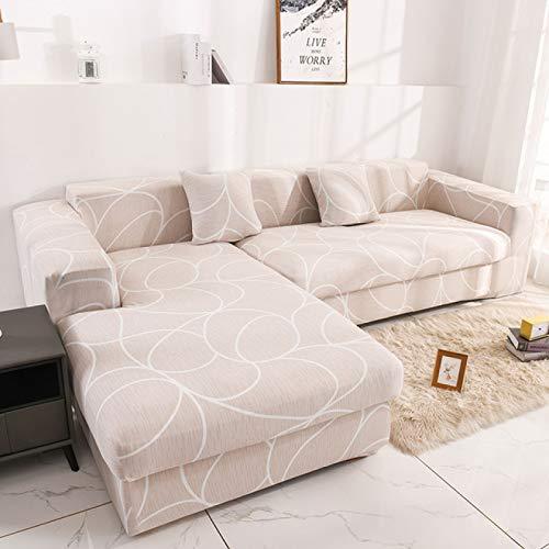 Nordische Geometrische Stretch L-Förmige Sofabezug All-Inclusive-Stoff Moderne Chaiselongue Kombination Wohnzimmer Sofa, Weihnachten rutschfest, Antifouling Und Anti-Rutsch-Sofa Handtuch