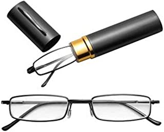 Eyewear reading plus 2.75 with cover stain steel