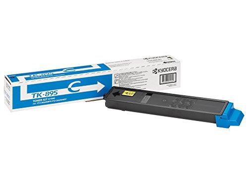 Kyocera TK-895C Original Toner-Kartusche Cyan 1T02K0CNL0. Kompatibel für FS-C8020MFP, FS-C8025MFP, FS-C8520MFP, FS-C8525MFP
