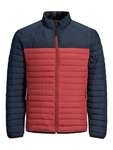 Jack & Jones Premium Jpruno Lightweight Jacket Blu Veste Courte-pointée, Red Dahlia, M Homme