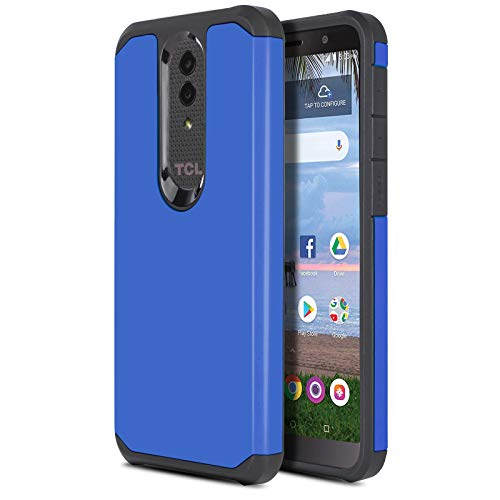 CasemartUSA Phone Case for [Alcatel TCL A1X (A503DL)], [DuoTEK Series][Blue] Shockproof Defender Protective Cover for Alcatel TCL A1X (Tracfone, Simple Mobile, Straight Talk, Total Wireless, Net10)