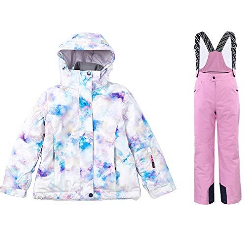 Thermo ski-jack meisjesbroek set skipak 1-delig waterdicht en winddicht eendelig sneeuwpak sneeuwpak sneeuwbroek praktisch voor snowboard