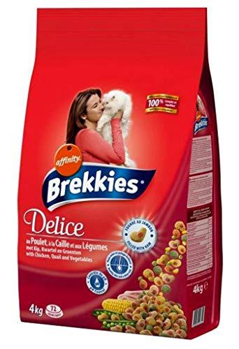 Brekkies Delice Kroketten Schinken © gestopft In Für Katzen am Wachteln und Huhn Lã © Gumes 4Kg (3er-Pack) 1