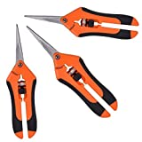 GROWNEER 3 Packs Pruning Shears Gardening Hand Pruning Snips with Straight Stainless Steel Precision Blades