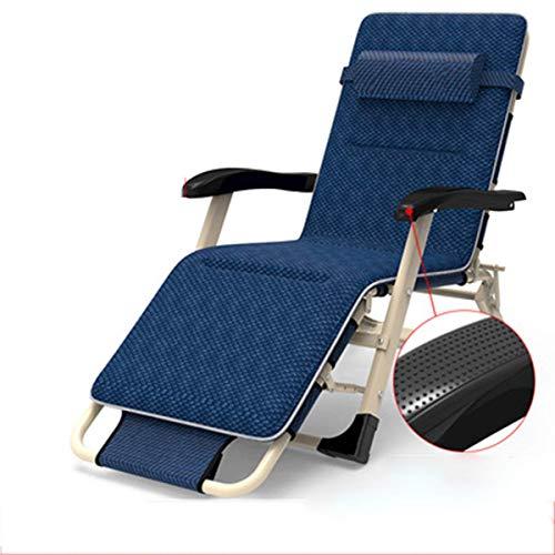 Tragbarer Büro-Liegestuhl, klappbare Sonnenliege Verstellbarer Rückenlehnen-Liegestuhl mit Kopfstütze Für Innen- und Außenbereich, Kaffee
