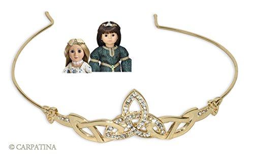 Celtic Tiara for 18 inch Carpatina, American Girl or AGFAT Dolls