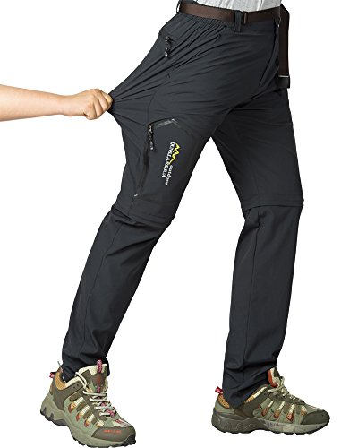 Jessie Kidden Damen Outdoor Quick Dry Convertible Wandern Angeln Zip Off Stretch Cargo Pants Klettern Stretch Hose #5818 28 dunkelgrau