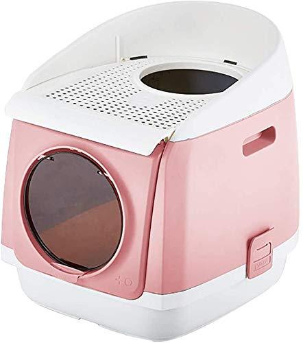 Camada arena for gatos mascotas cajas de plástico caja semi-cerrado higiénico Anti-Splash reutilizable gato cuñas for mascotas suministros de limpieza de basura con capucha del gato del gato Pan bande