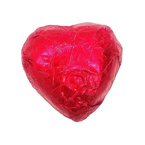 Walser's Group Corazones Rojos De Chocolate Con Leche Rellenos De Crema De Avellana- 1 Kg, 125 Piezas