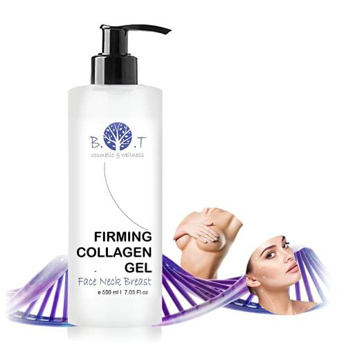 B.O.T. cosmetics & wellness Festigende bioaktive Gesicht und Körper Kollagen Gel Dekolleté, 500 ml