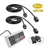 Extension Cable for SNES/NES and Wii Controller, 3M/10ft(2 Pack) Extension Cord with Mini NES Classic...