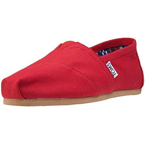 TOMS Canvas Classic Alpargata, Zapatillas Mujer, Rojo (Red), 36.5...