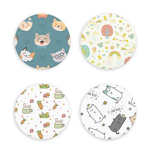 Imanes magnéticos para Nevera con diseño de Dibujos Animados de Animales, decoración del hogar, Regalo, imanes duraderos para Nevera