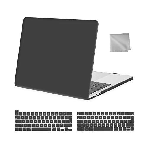 MOSISO MacBook Pro 13 inch Case 2016-2020 Release A2338 M1 A2289 A2251 A2159 A1989 A1706 A1708, Plastic Hard Shell Case&Keyboard Cover&Wipe Cloth Compatible with MacBook Pro 13 inch, Space Gray