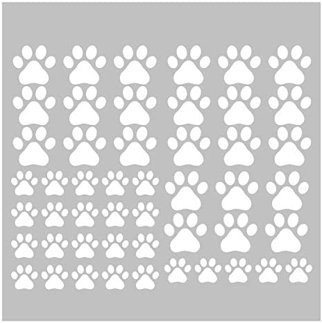 49 Pieces Set Dog Paws Wall Decals Vinyl Pawprints Sticker Animal Footprint Wall Art Decoration product image