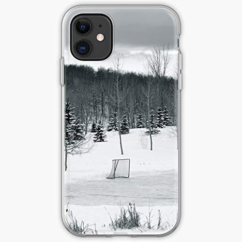 Frozen White Pond Black Hockey Winter Snow Ice Einzigartiges Design Snap/Glass Phone Case Cover fur iPhone, Samsung, Huawei - TPU Stoßfester Innenschutz