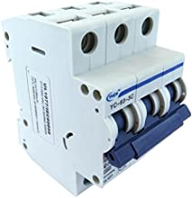 Yuco YC-63-3C Supplemental Protector Din Rail Miniature Circuit Breaker 3P 63A C Curve TUV UL 1077 European Design CSA C22.2
