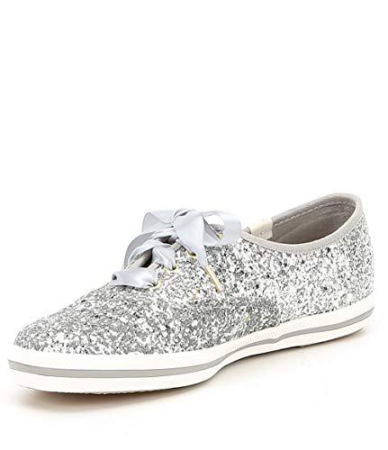 Keds Women's Champion Kate Spade Glitter Sneaker, Silver