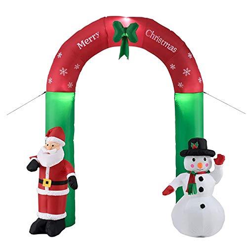 wolketon Arco Gonfiabile Babbo Natale E Pupazzo di...