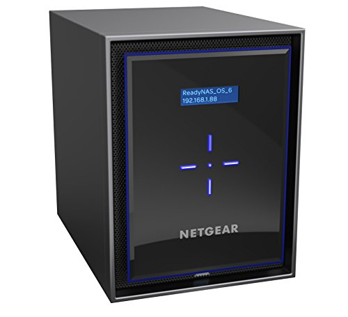 Netgear ReadyNAS Serie 426 Storage di Rete, 6 Slot Senza Dischi, da 60TB, Backup Sicuro, Antivirus, Accesso e Gestione Tramite Cloud, Nero