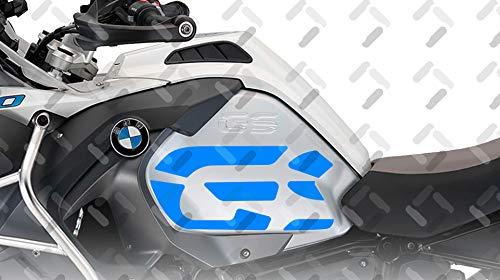 KIT X2 ADESIVI LATERALI GS PER MOTO R 1200 GS ADV 2014-2018 ST-GS-R1200ADV(Alpine White)