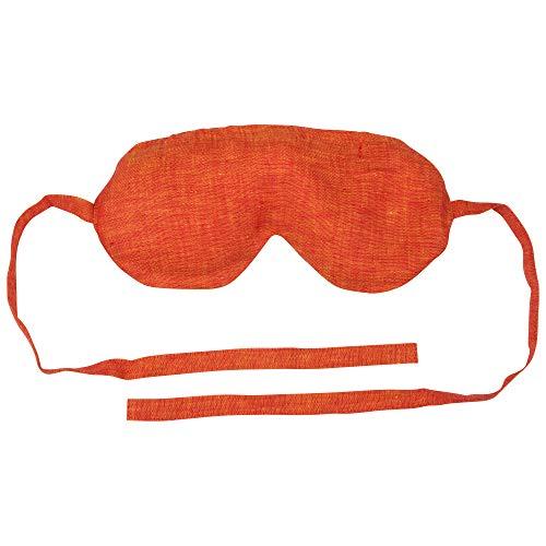 DocNatur Schlafbrille mit Hirse und Lavendel (orange) für Frauen und Männer, Yoga, Entspannung, Massage, Augenmaske, Augenabdeckung