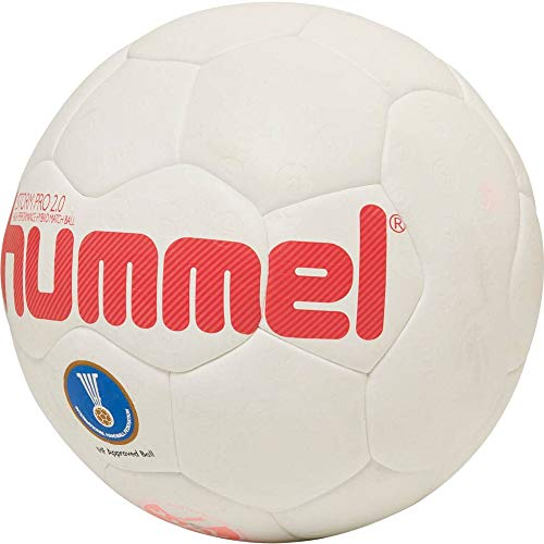hummel HMLSTORM PRO 2.0-Handball Sport, Weiß/Rot, 3