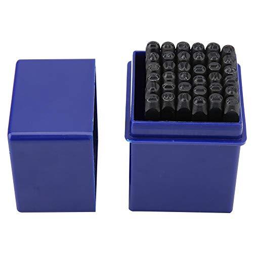 Sello de acero duradero, acero al carbono con caja de almacenamiento de sellos, 36pcs/Set para punzón de cuero Die Metal Uso de plástico