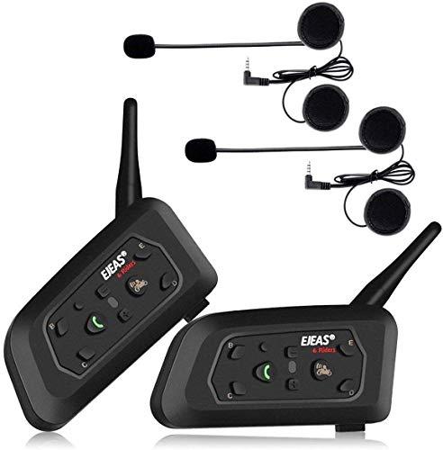 Intercomunicador V6 Pro Par Motociclista Capacete Bluetooth 1200m