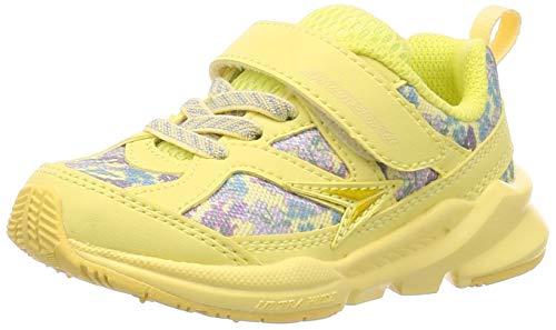 [シュンソク] スニーカー 運動靴 幅広 軽量 15~23cm 3E キッズ 女の子 LEC 6420 イエロー 18 cm
