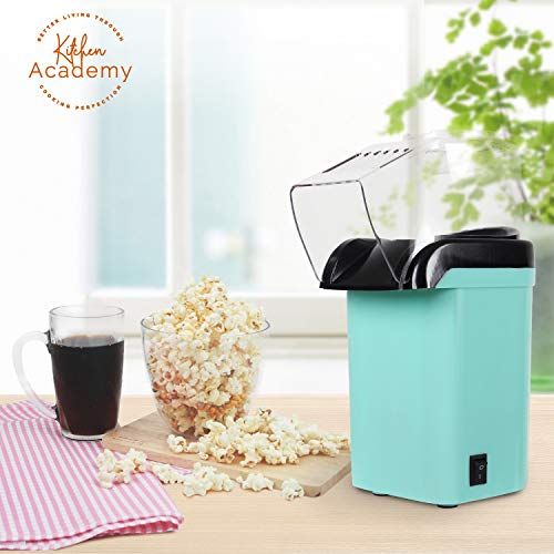 Save %20 Now! Kitchen Academy Hot Air Popcorn Popper, No Oil Popcorn Maker with Measuring Cup and Re...