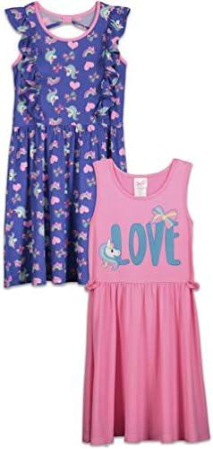 JoJo Siwa Unicorn Big Girls 2 Pack Summer Sleeveless Dress Pink Purple Blue 8 product image