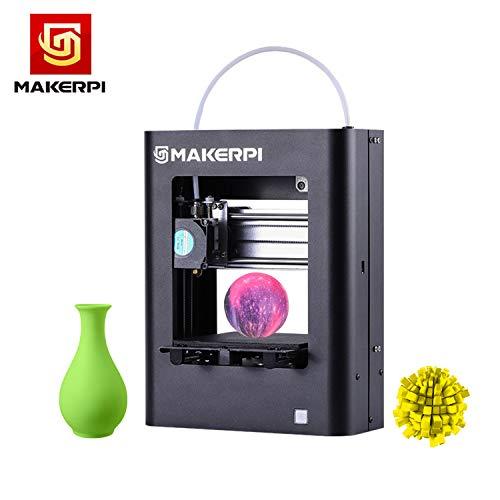 Leslaur MakerPi M1 Desktop Mini Imprimante 3D entièrement assemblée 100 * 100 * 100mm Taille;impression Cadre en aluminium Structure Un seul bouton Impression Smart Leveling Opération simple avec 10m