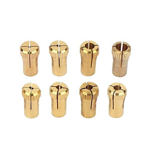 OGUAN Juan Drill Chuck, Collet Chuck, Z061 Zinc Brass Mini Chuck/Small Collet Broca Collet Chuck Set 1/2 / 2,5/3 / 3,5/4/5/6 mm