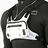 YEVHEV Running Backpack Vest Cell Phone and Accessories Holder Lightweight Pack for Walking Cycling (white)