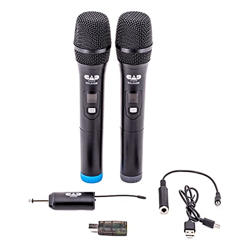 CAD Audio GXLD2QM Digital Frequency Agile Dual Channel Handheld Wireless Microphone System