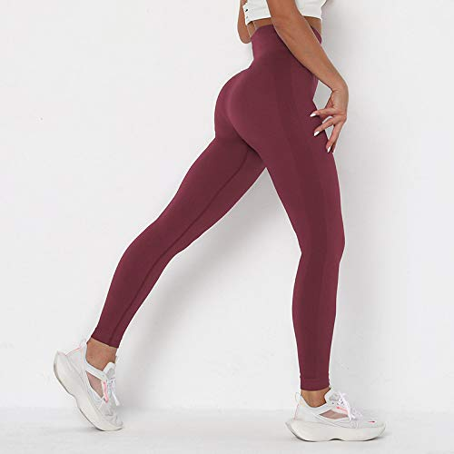 MItrilifi 2 ALL Pantalones De Yoga Mujeres Pantalones De Yoga Deporte Correr Push Up Leggings Trainning Joggings Solid Sportwear Yoga Gym Leggings M Wine