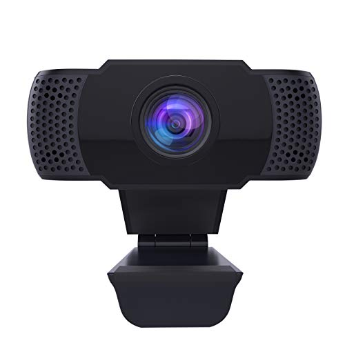 Soffria Webcam with Microphone,1080P PC Laptop Desktop Computer Camera USB 2.0 Full HD Plug & Play Web Camera for Video Calling, Studying, Conference, Recording, Gaming with Rotatable Clip