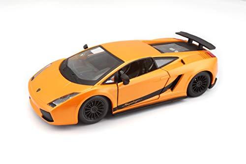 Bburago 18-22108 - Lamborghini Gallardo Superleggera Modellino, Scala 1:24, Colori Assortiti: Verde/Arancio Metallizzato
