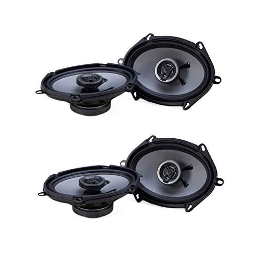 Crunch 250W Full Range 2 Way Coaxial Car Audio 5x7 by 6x8 Speaker Pair (2 Pack)