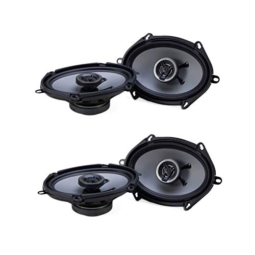 Crunch 250W Full Range 2 Way Coaxial Car Audio 5x7 by 6x8 Speaker Pair (2 Pack)
